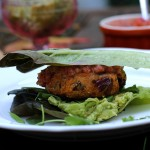 Sweet potato and red bean patties