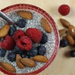 Chia breakfast berry pudding