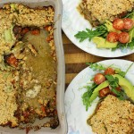 Clean tomato pesto and courgette lasagne