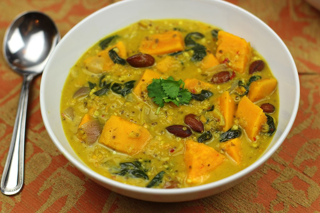 Sweet-potato-and-spinach-dal