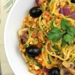 Tomato pesto courgetti