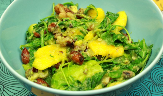 Mango, avocado & nut summer salad