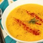 Sweet potato and lentil soup